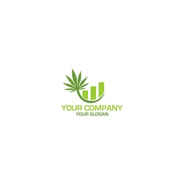 Weed Accounting Logo Design Vector
