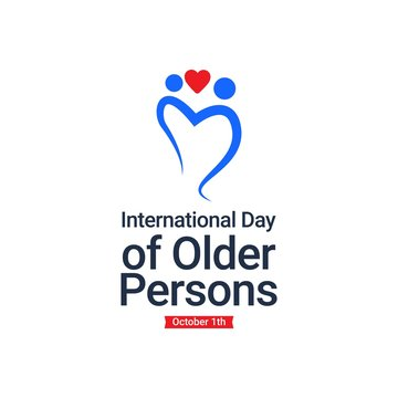 International Day of Older Persons design template. Design for banner, greeting cards or print.