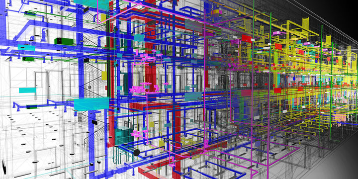 The BIM model of the utilities of transparent view
