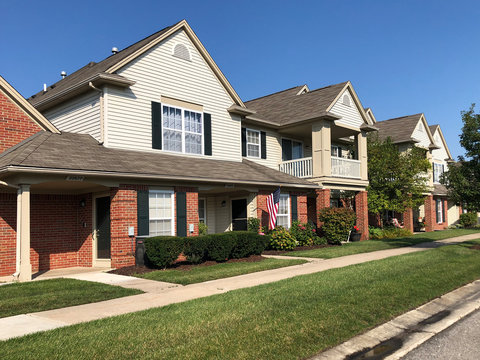 Condominium homes in an upscale Detroit suburb.