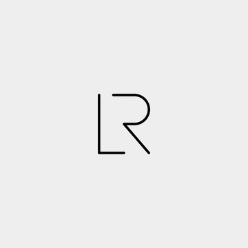 Letter R L RL LR Logo Design Simple Vector