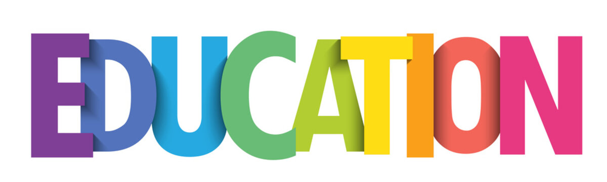 EDUCATION colorful vector typography banner