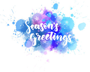Season's greetings lettering. Christmas holiday concept