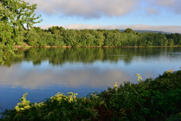Susquehanna river going through Harrisburg, Pennsylvania
