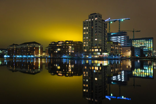 Dublin Dockland  night pictures  Ireland