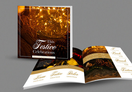 Festive Holiday Brochure Book Layout