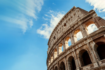 In de dag Rome Anfiteatro Flavio