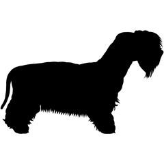 Cesky Terrier Silhouette Vector