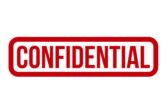 Confidential Rubber Stamp Vector Illustration