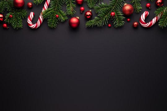 Black Christmas border