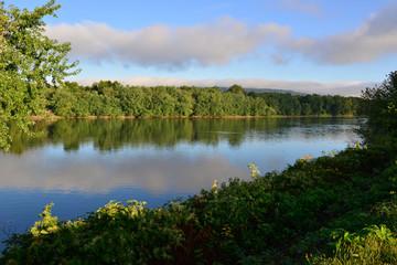 Susquehanna river going through Harrisburg, Pennsylvania.