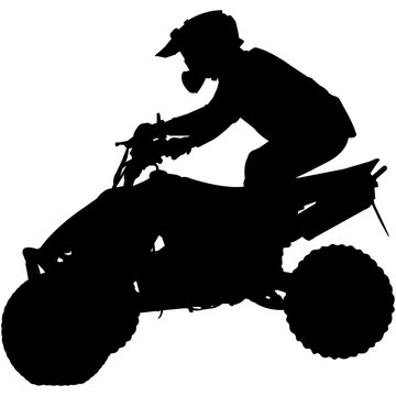 ATV Quad Motocross Silhouette Vector