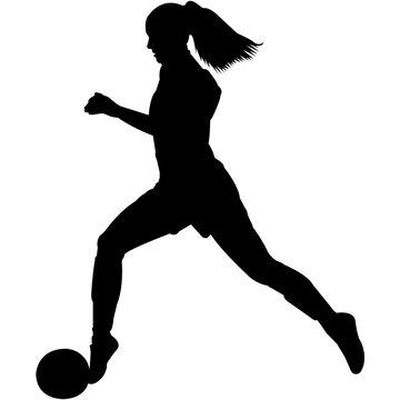 Soccer Women Silhouette Vector