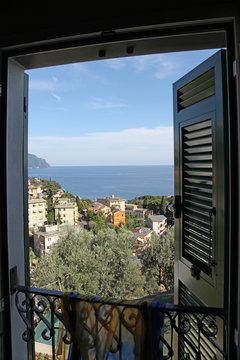 Italy. Cinque Terre. Bogliasco. City view