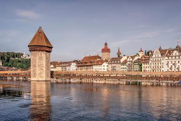 Fototapete - Lucerne city in the daytime, Switzerland