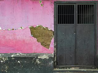 Vieja casa de adobe en la ciudad de Rivas, Nicaragua