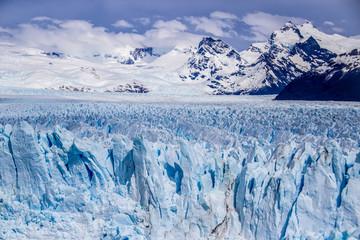 The icy spikes of perito moreno glacier in argentinan patagonia