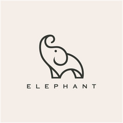Elephant line icon, filled outline vector sign, linear colorful pictogram isolated on white. Symbol, logo illustration