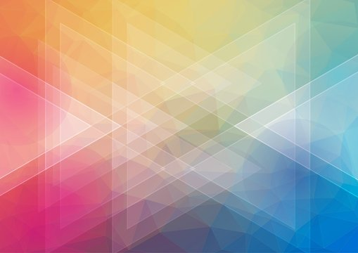 Flat awesome horizontal background with triangle shapes for web design