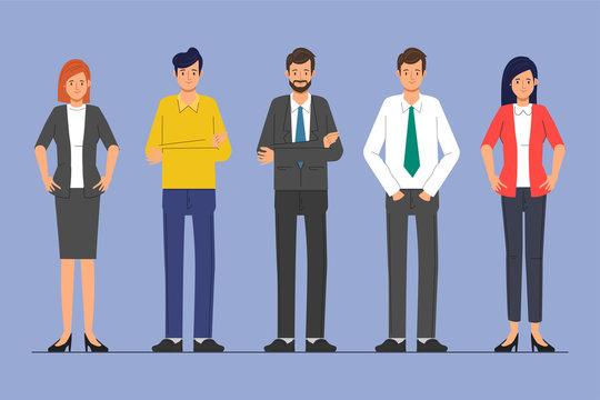 Business people teamwork character. Animation scene people community.