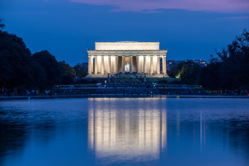 Lincoln Memorial  in Washington D.C. in the evening