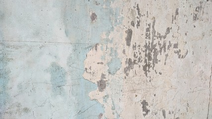 Fotobehang Oude vuile getextureerde muur Blue paint scratch old concrete wall texture, use as background or wallpaper