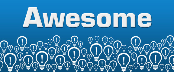 Awesome Blue Background Bulbs Bottom Text