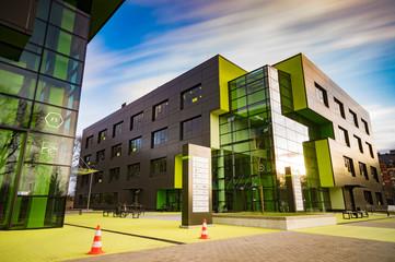 Szczecin,Poland-June 2017:Modern office building in the sunset light