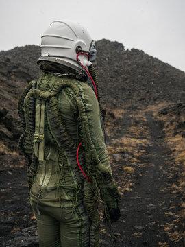Anonymous astronaut on desert planet