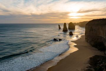 The twelve apostols along the Great Ocean road, Australia