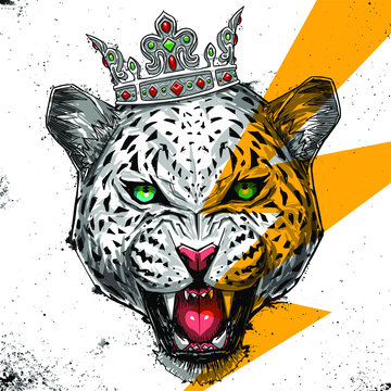 leopard illustration graphic design resource