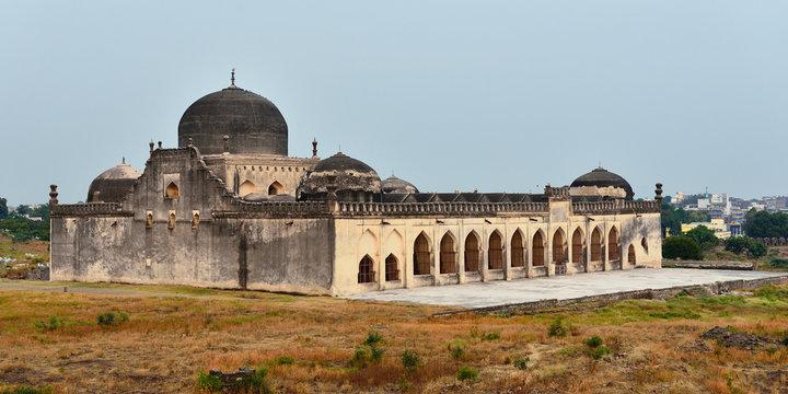 View of Gulbarga Jamia Mosque built in 14th century, Karnataka, India.