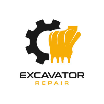 excavator engine repair logo design
