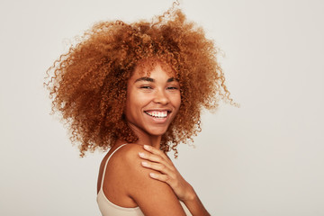 Amazing African American woman portrait smiling