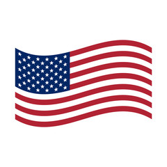 Waving flag USA. United States of America flag, Vector isolated illustration