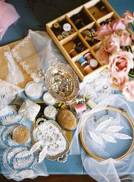 Various sewing supplies