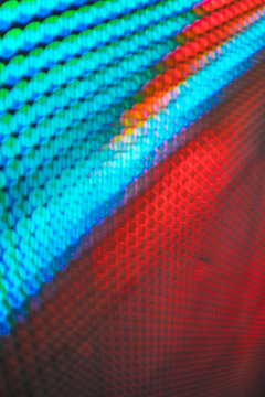 Wall of abstract colorful lights