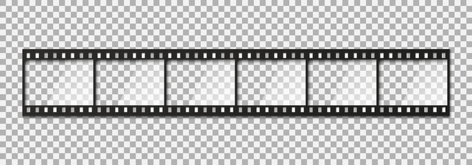 Six frames of classical 35 mm film strip.