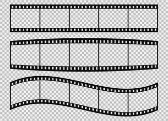 Five frames of classical 35 mm film strip.