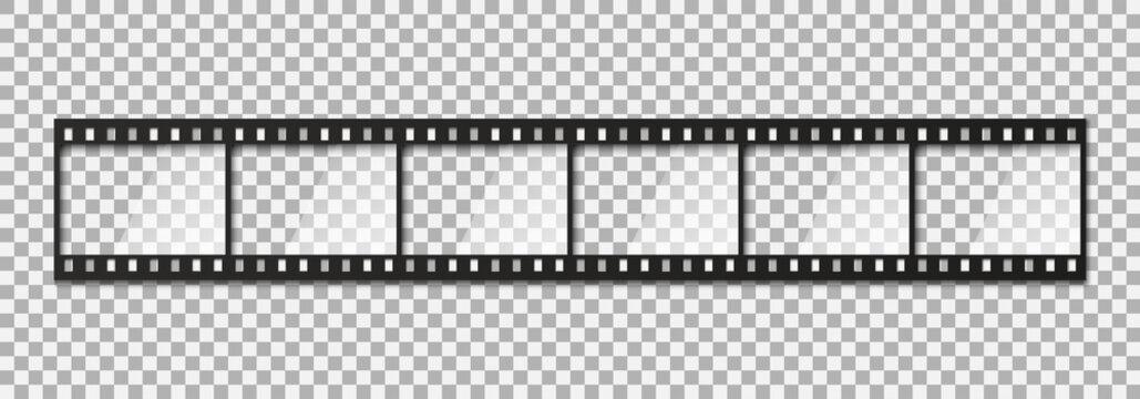 Six frames of classical 35 mm film strip.