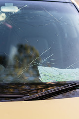 cracked windscreen from hail
