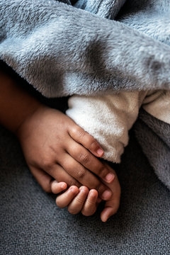 Close up of children hands