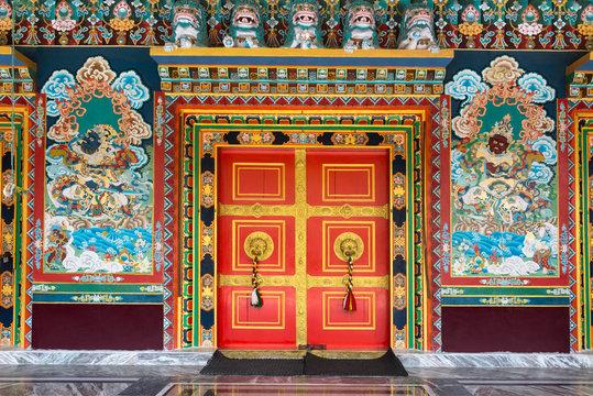 Ralang Monastery door Ravangla, Sikkim, India