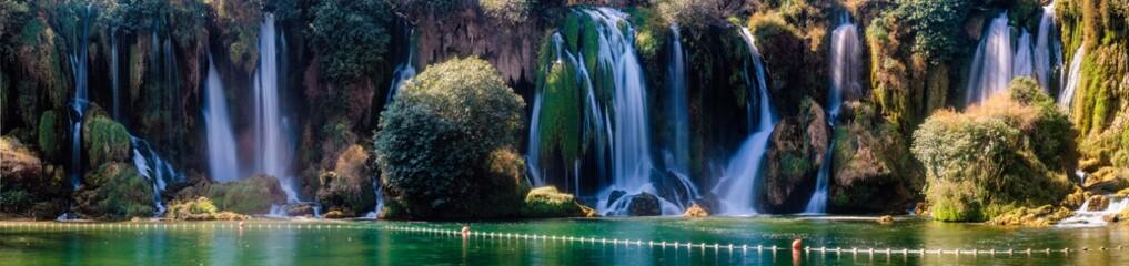 Panorama of Kravica waterfalls  . Bosnia and Herzegovina Fototapete