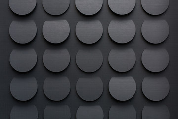 Dark gray circular background