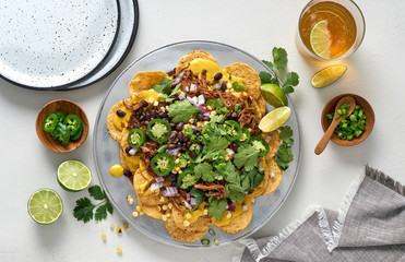 Healthy Vegan Pulled Mushroom Nachos Ready to Eat