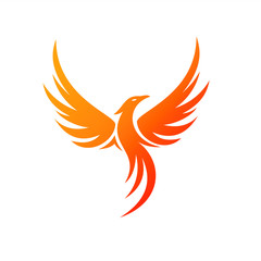 Charming Illustration Phoenix Logo Concept