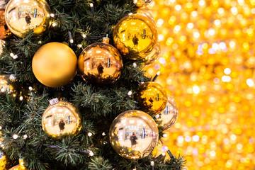 Weihnachten Christbaum beleuchtet