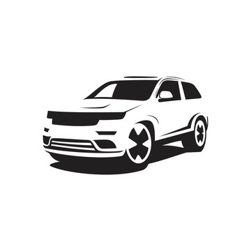 Vector SUV car silhouette style vector for business symbol