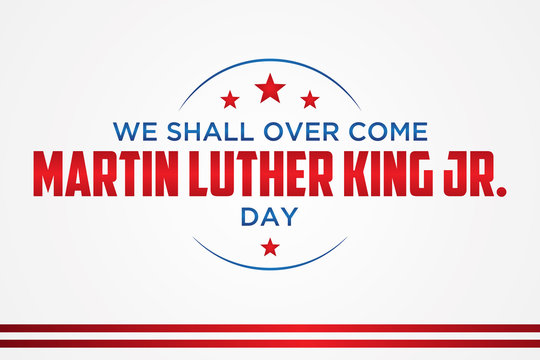 Simple letter emblem Martin Luther King Jr. day or MLK JR. Day inside the hexagon line